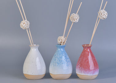 330ml Pink Glazing Ceramic Aromatherapy Oil Diffuser Bottle for Home Fragrance