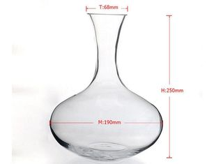 2000ml Clear Glass Wine Decanters Dinnerware Hand Made for Home