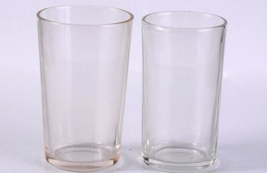 Clear Cylinder Tumbler Drinking Glasses For Water / Juice Drinking Lead Free